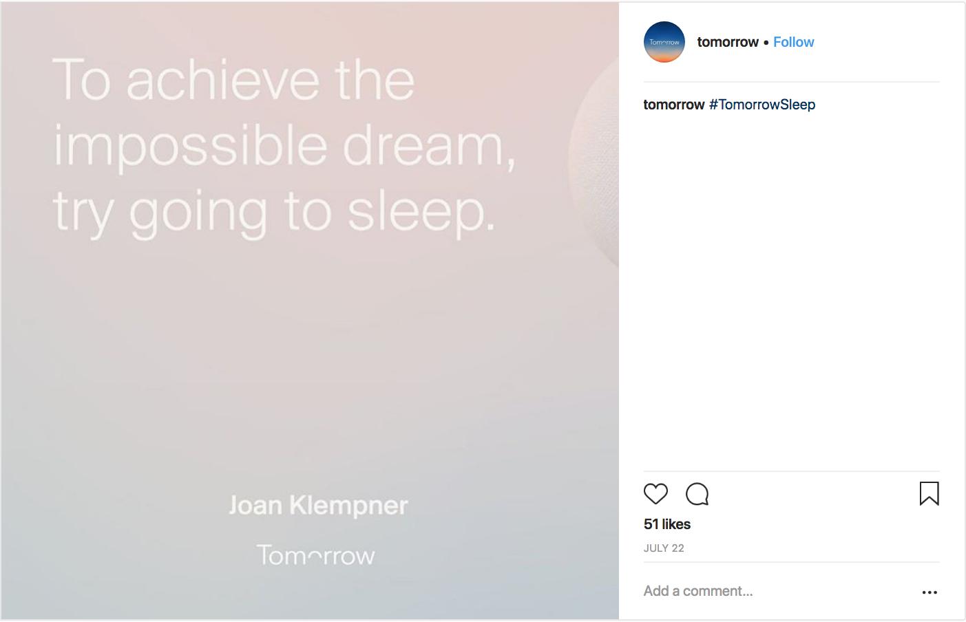 © Tomorrow Sleep