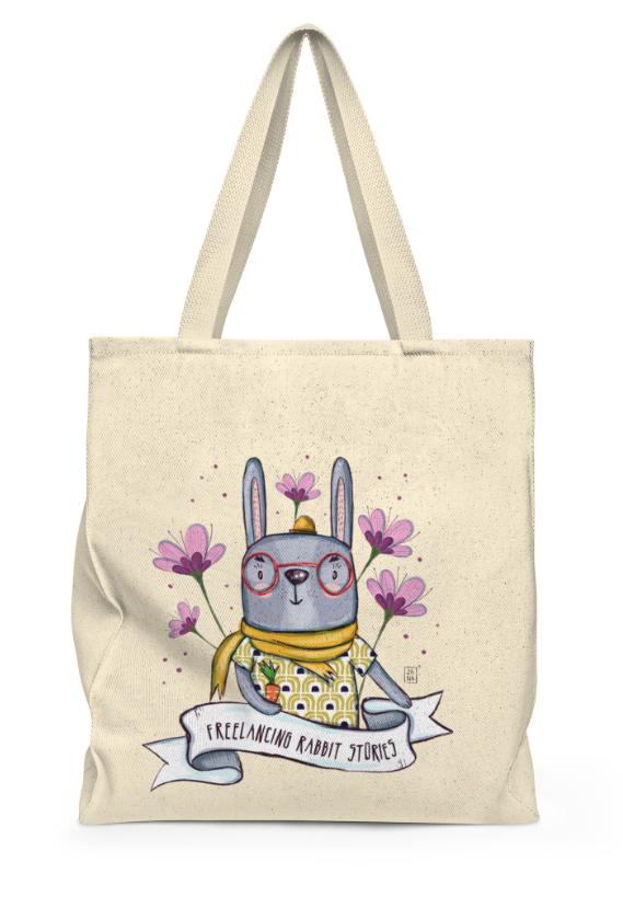 Freelancing Rabbit Stories Tote Bag
