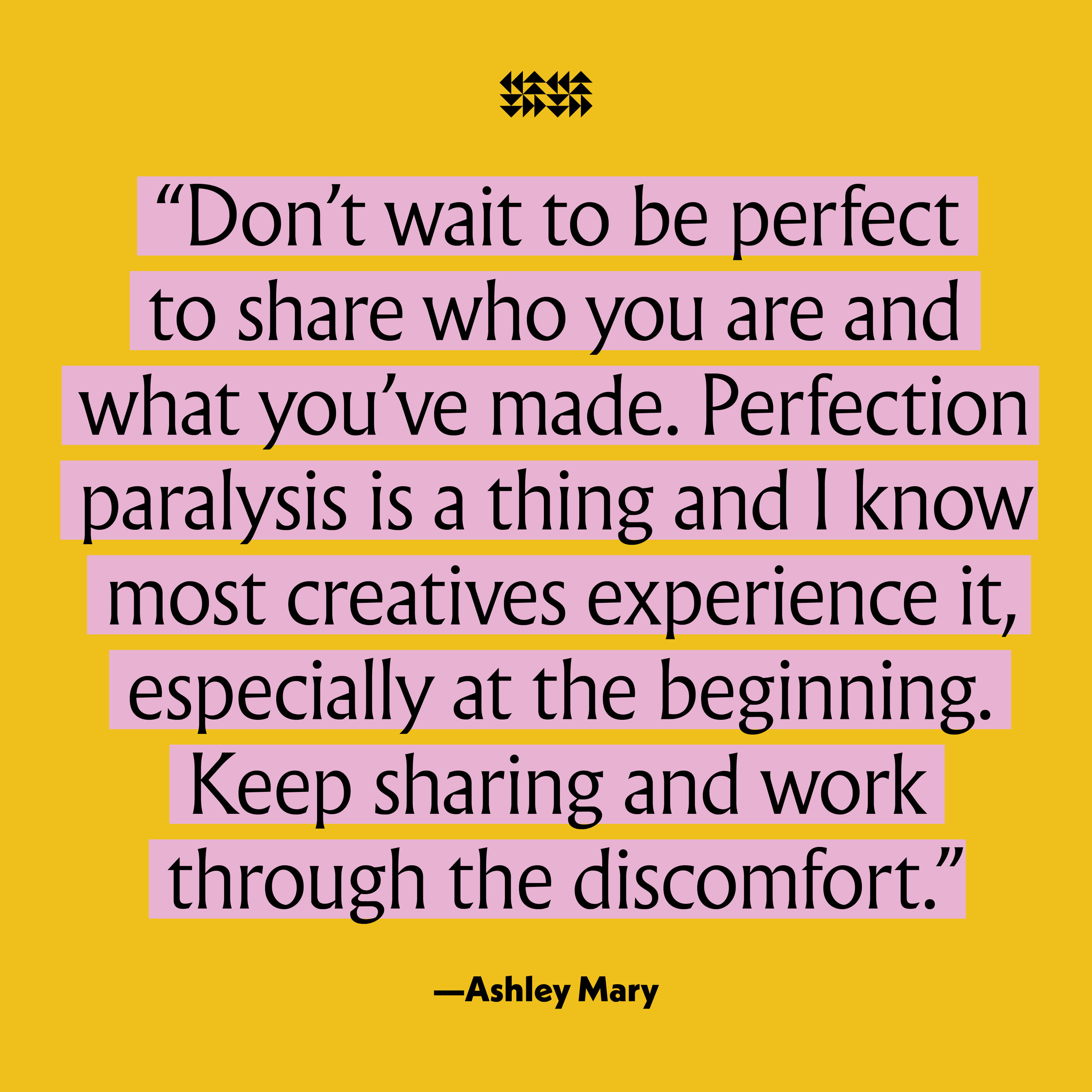Artist Ashley Mary in the Vision Issue