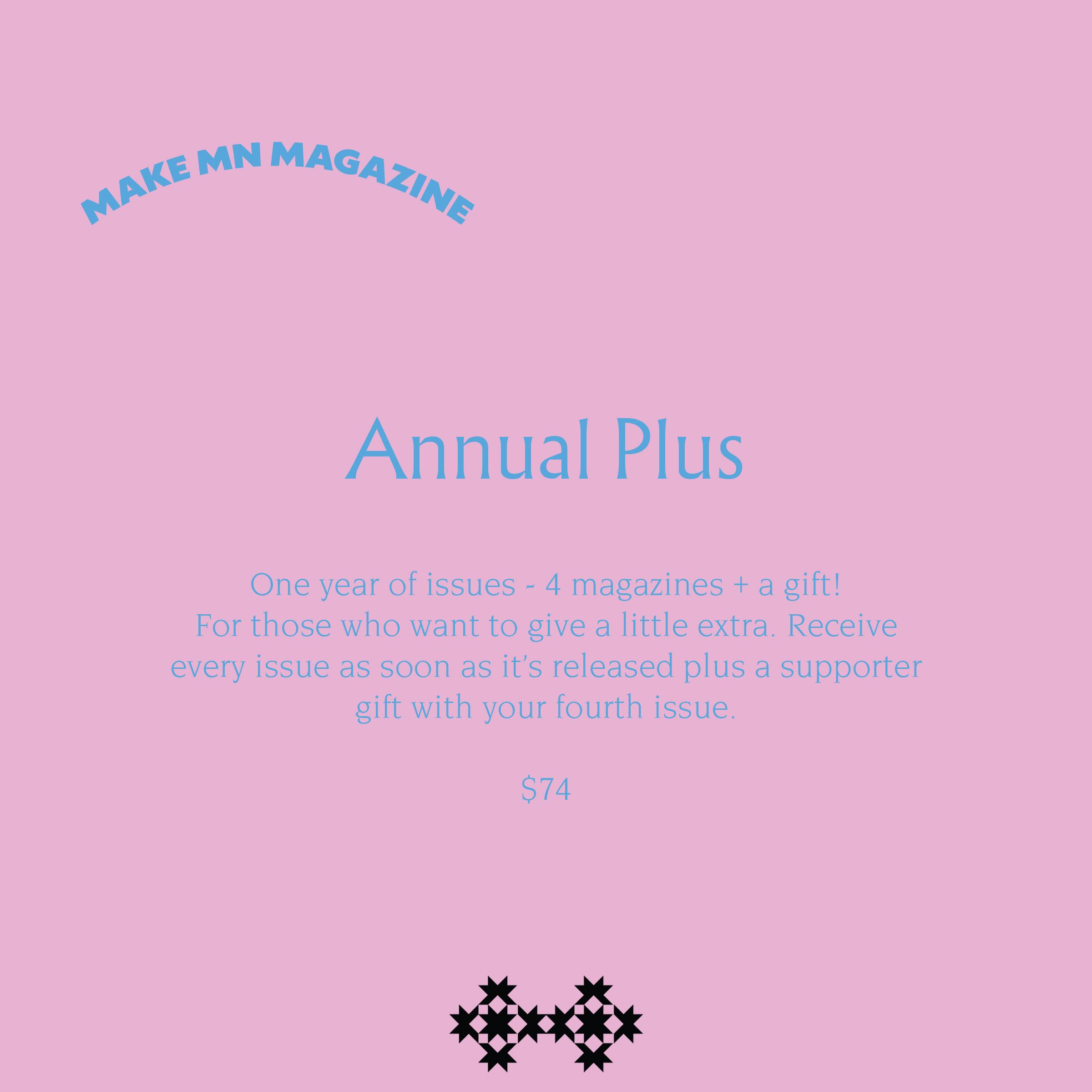Annual Plus Subscription