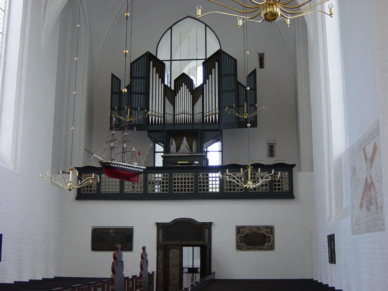 The old organ, Mariager, Denmark