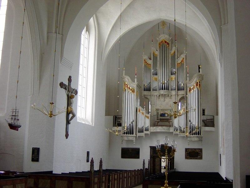 The new organ, Mariager, Denmark