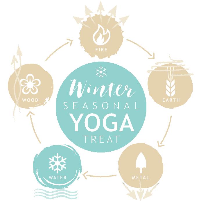 Seasonal yoga retreat winter