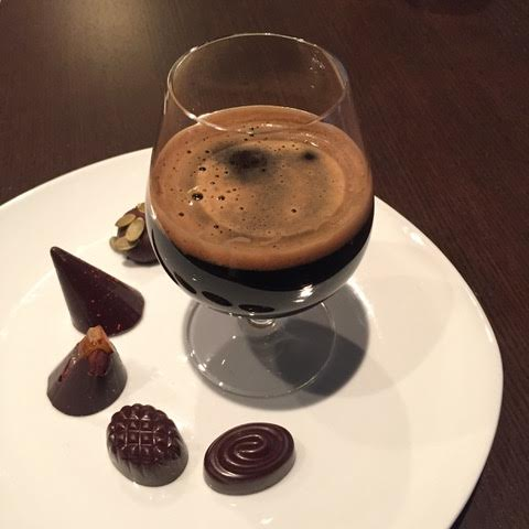 """Chocolate and Beer Pairing - The winning pairing of Collective Arts Imperial Porter & the Dark Chocolate Cara Croquant was featured on Radion Canada (CBC Radio).""""The intense smokey notes and warming alcohol quality in this beer amplify caramel flavours in the Cara Croquant and lend a rich quality to the chocolate itself, making it almost taste like milk-chocolate."""