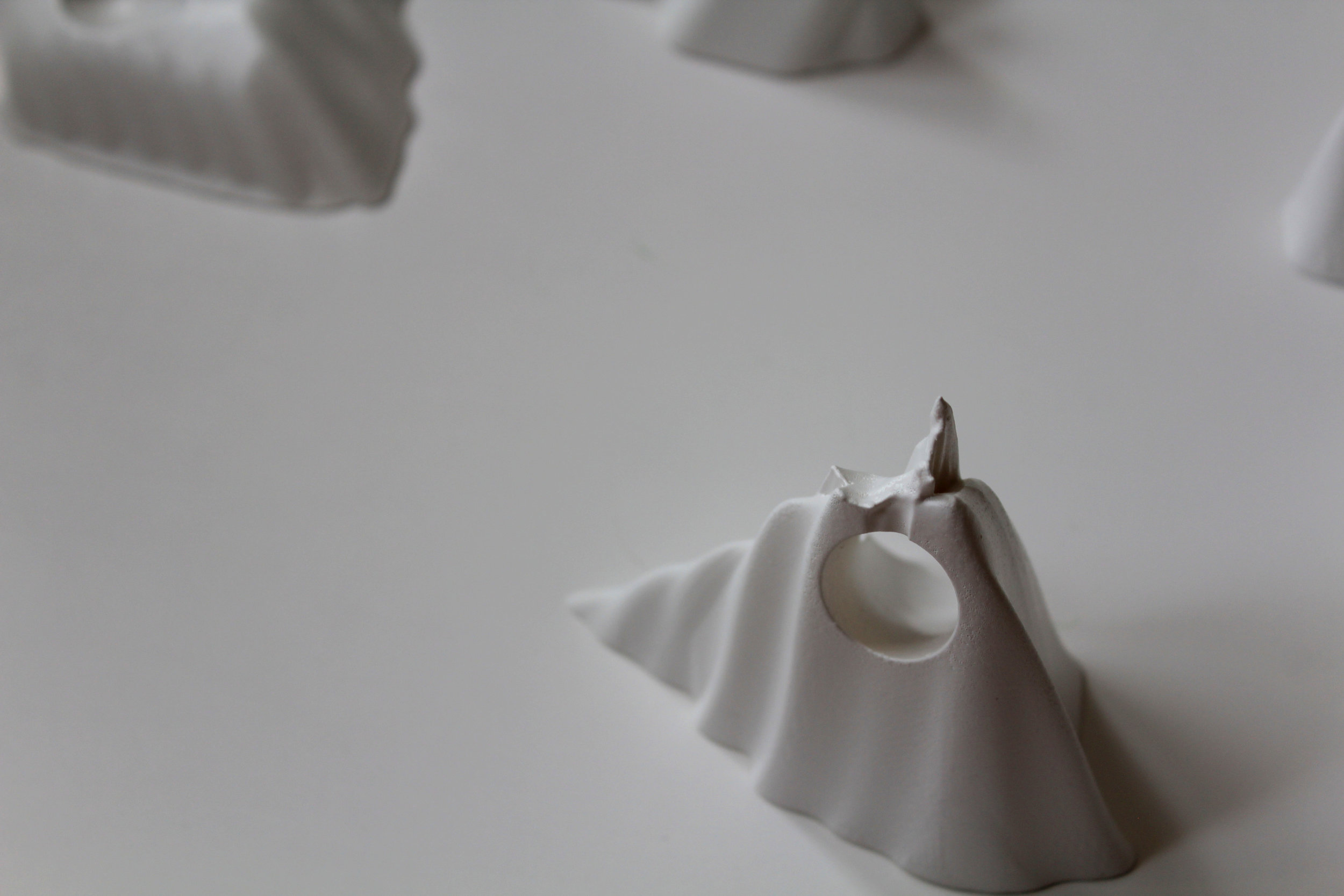 3D-printed dance props extruded from 3D scanned portions of dancers' bodies