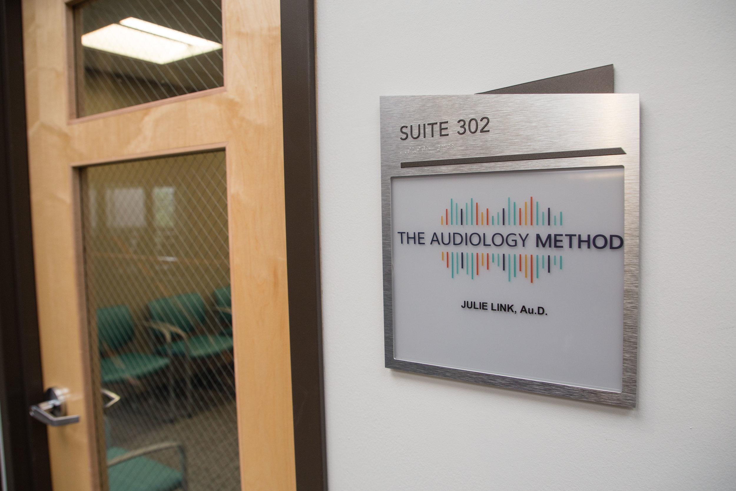 Colorado Audiology Office Door