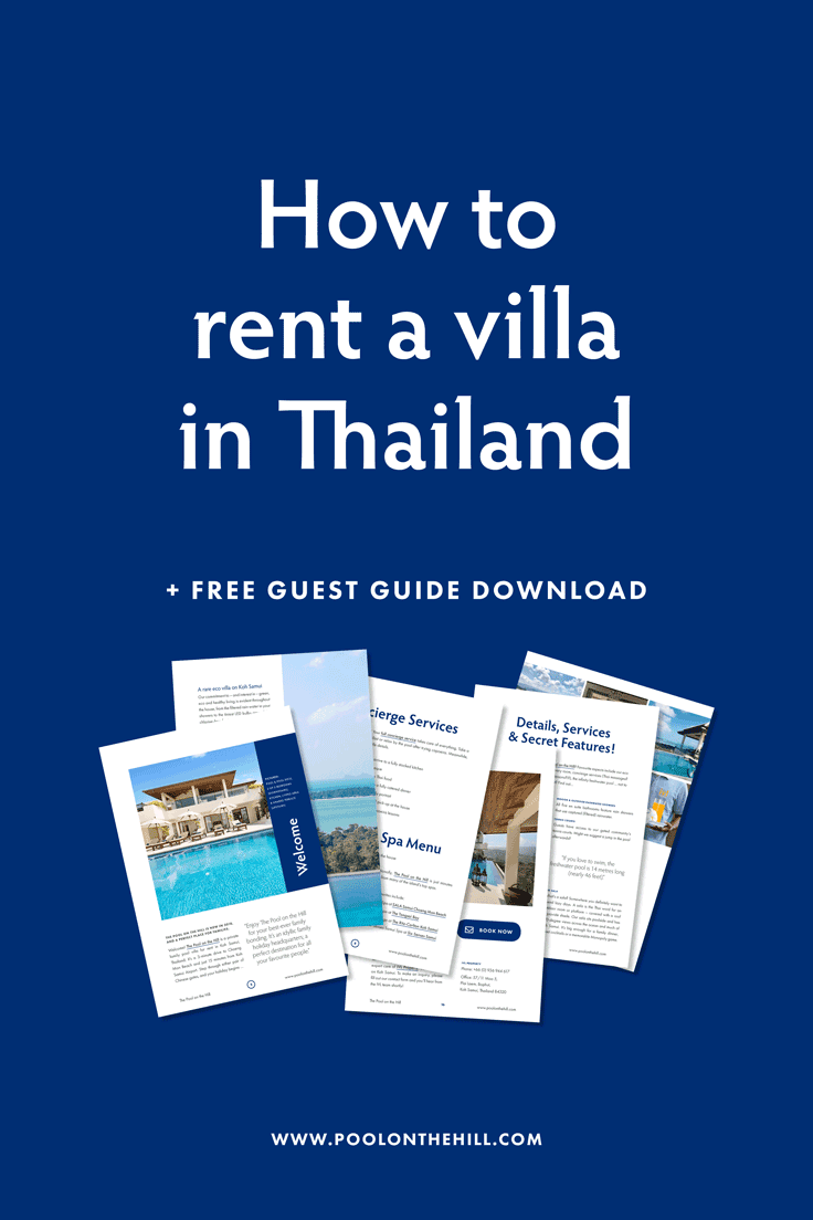 How to rent a villa in Thailand? In ten easy steps, here's how to enjoy your Thailand villa rental process – from start to finish. | #bangkok #thailand #phuket #kohsamui #villa