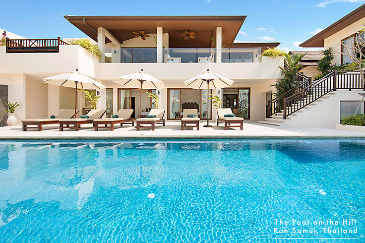 Villa for Families in Koh Samui, Thailand – Your FAQs:  The Pool on the Hill 's infinity pool is accessed directly from the pool deck and two of the villa's five bedrooms