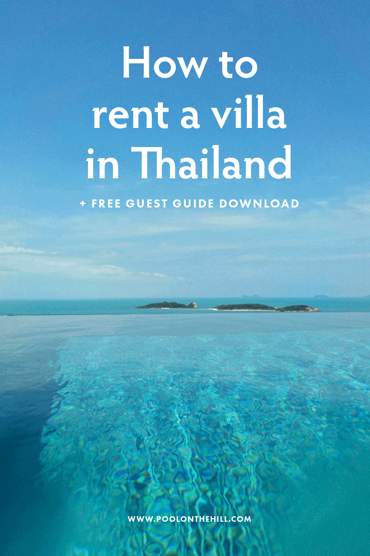 How to rent a villa in Thailand? In ten easy steps, here's how to enjoy your Thailand villa rental process – from start to finish. | #bangkok #thailand #phuket #kohsamui
