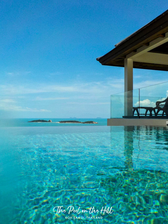 Koh Samui pool villa: Ocean views of Koh Samui seen from The Pool on the Hill | #kohsamui #thailand #samui #travel #privatevilla