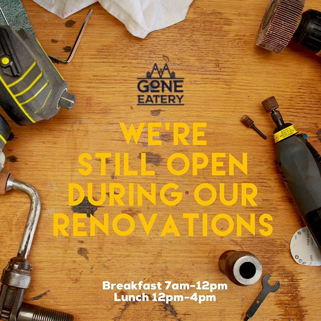 We're still open! Find us behind the bookstore . . . #goneeatery #whistler #whistlervillage #food #localeats #breakfast #lunch #coffee #onlyinwhistler