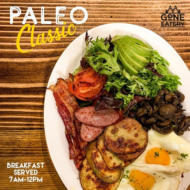 How do you like your eggs in the morning?...we like ours 'sunny side up' on our healthy, filling, & gluten free Paleo Classic breakfast! . . Lots of other tasty breakfast options available 7am - 12pm . . #goneeatery #whistler #whistlervillage #food #localeats #breakfast #lunch #coffee #onlyinwhistler #paleo #paleoclassic  #glutenfree