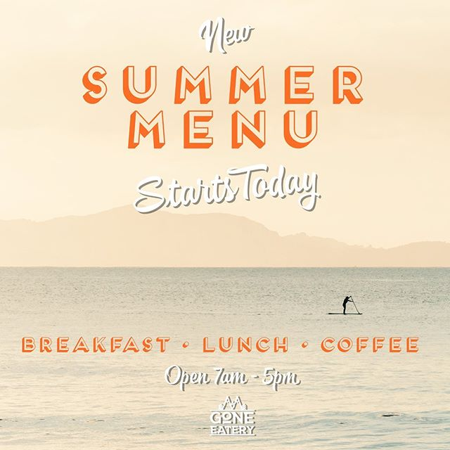 We've got some new 'Summer' menu items dropping today! ☀️ Come and try them out! We're located behind the bookstore . . Breakfast served 7am - 12pm Lunch served 12pm - 5pm . . . #goneeatery #whistler #whistlervillage #summer #summermenu #food #localeats #breakfast #lunch #coffee #icedcoffee #cool #hellosummer #onlyinwhistler #supportlocal