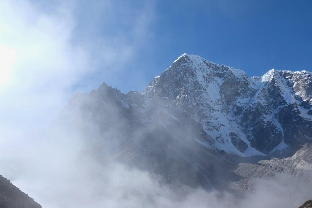 Fog enveloping the valley