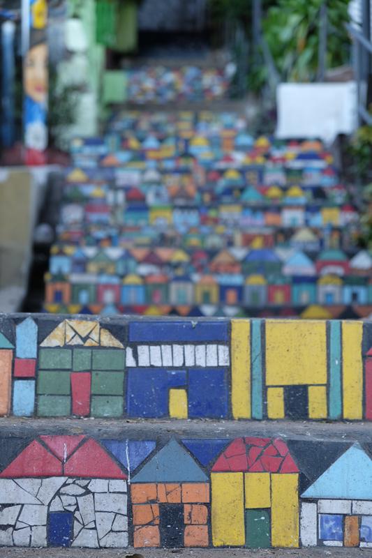 Azulejos de la Escalinata, San Jerónimo, Asunción    Stairway Tiles, San Jerónimo, Asunción