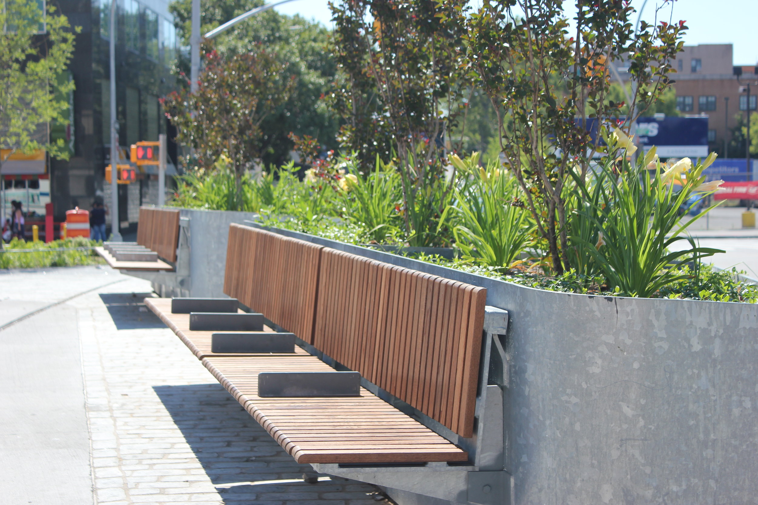 Planters with Removable Benches