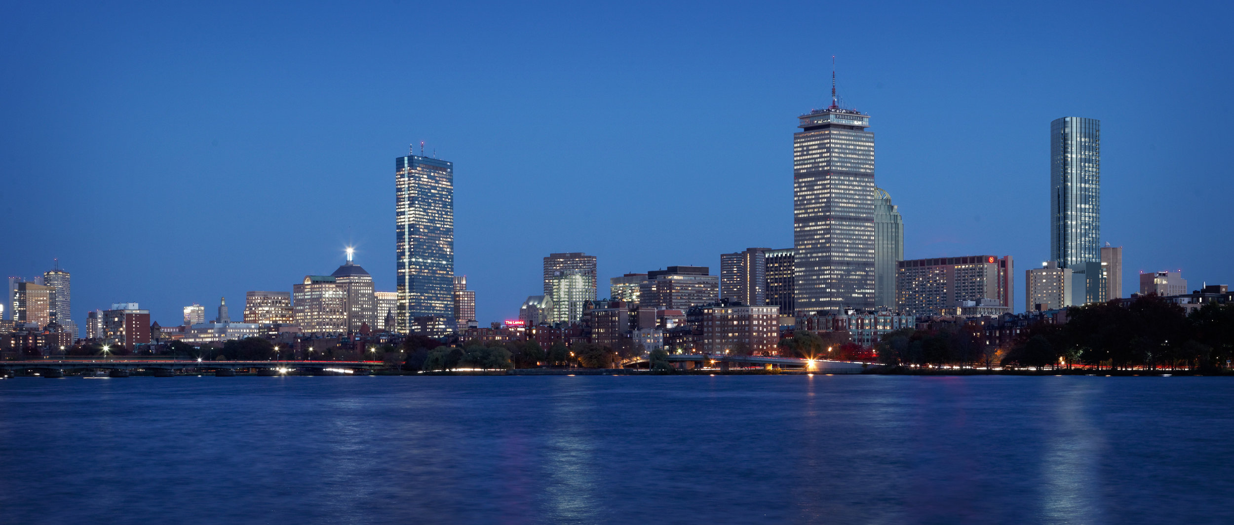 Rendering of Tower (at right) within context of Back Bay, Boston