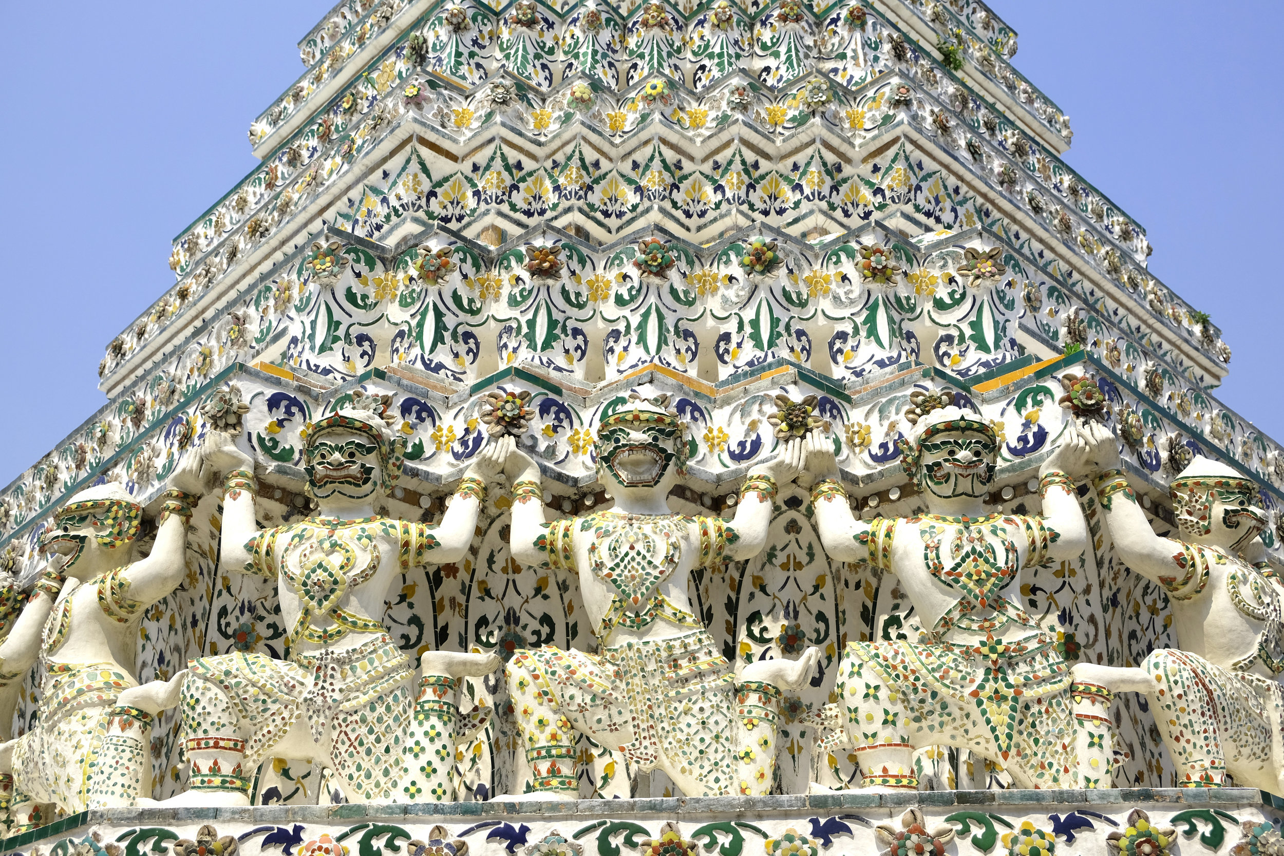 Incredible detailing at Wat Arun Temple