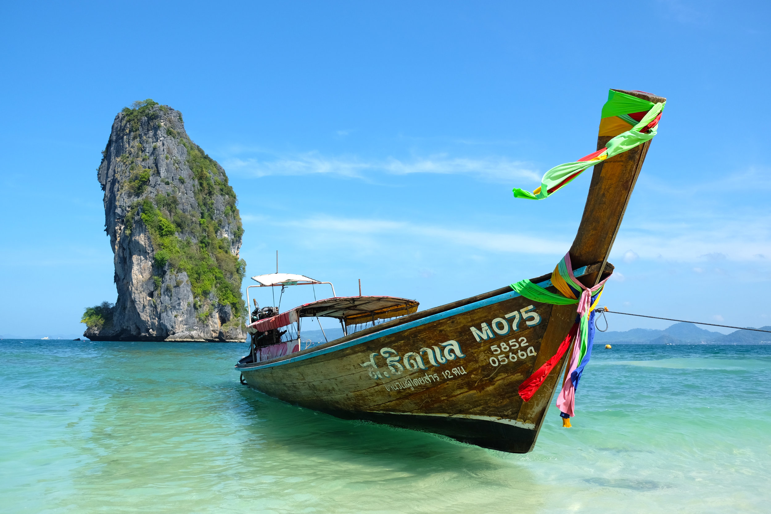 Long-tail boat at Ko Poda Island