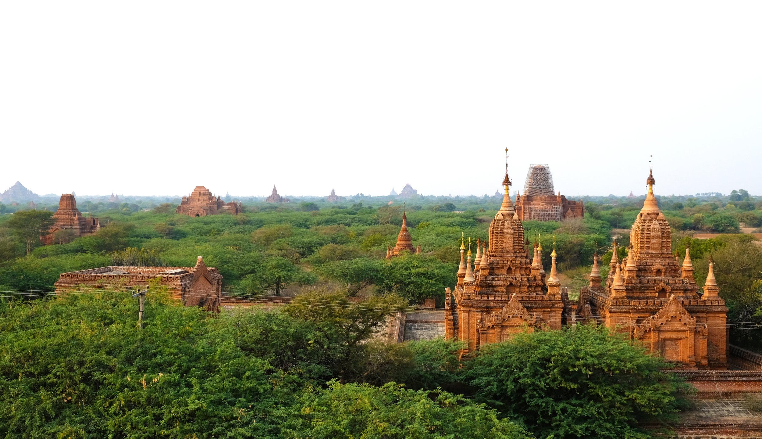 Bagan at sunset