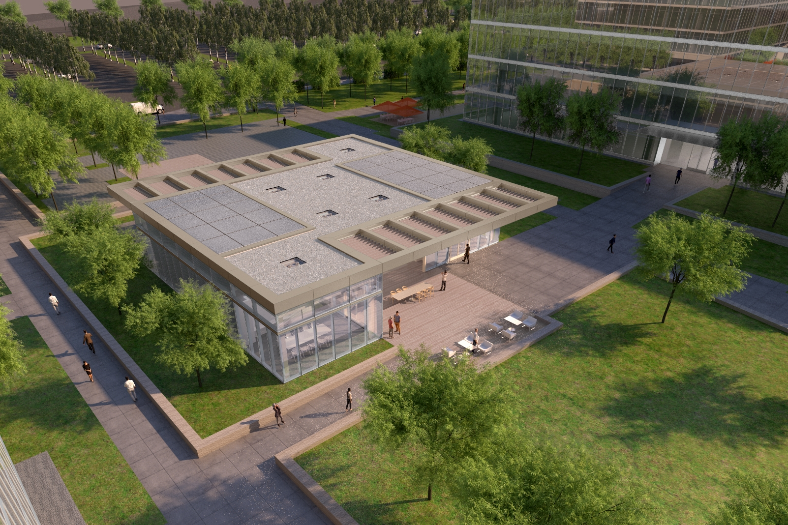 Phase II Conference Center Aerial