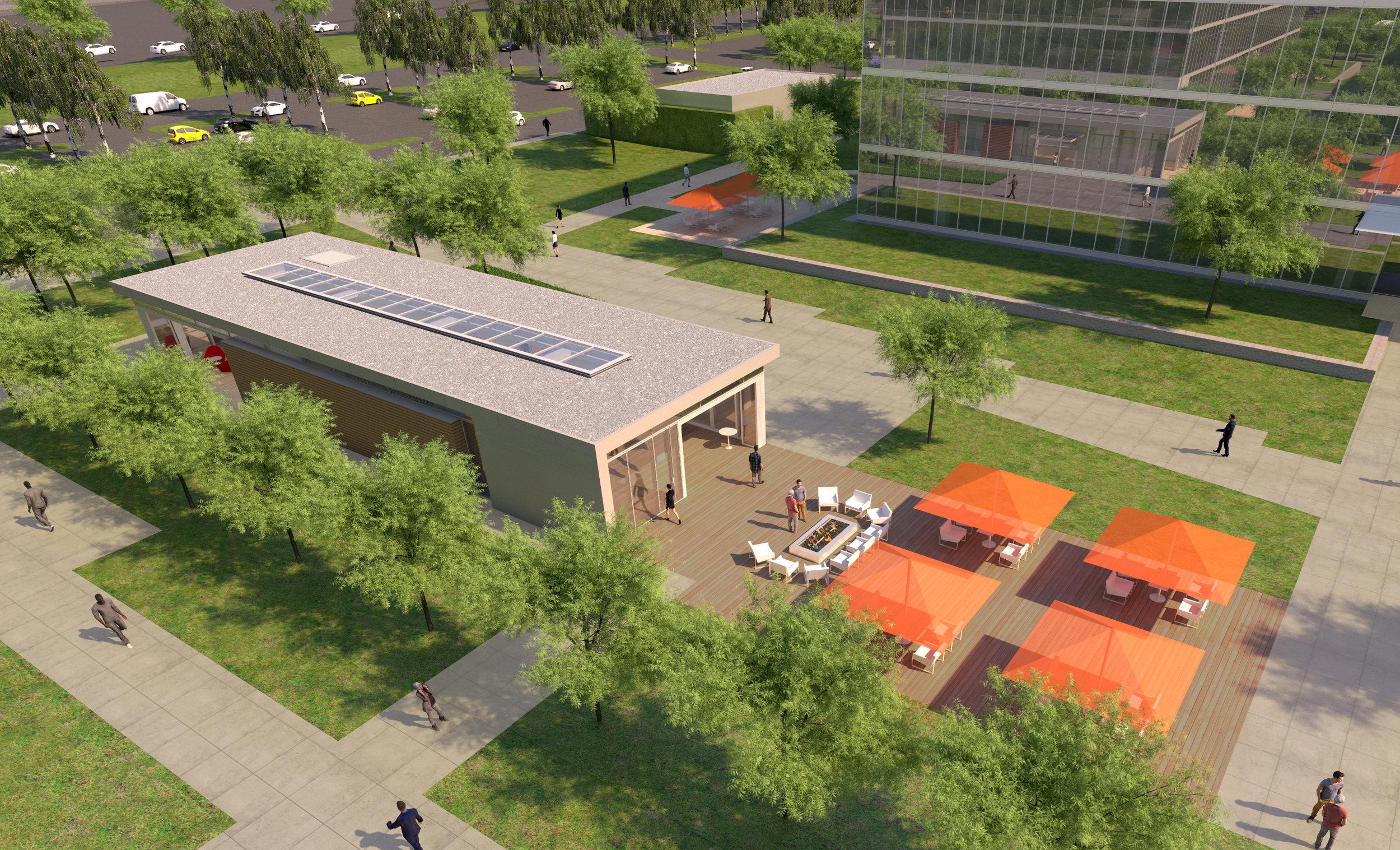Phase III Amenity Building Aerial