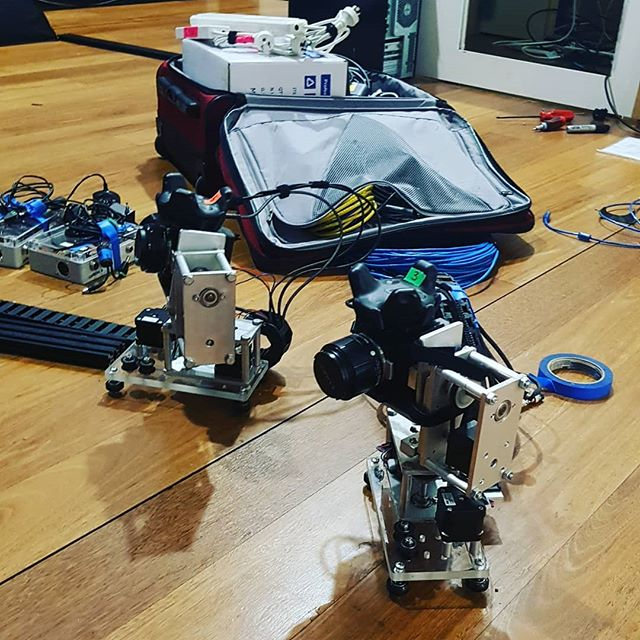 Sad but excited autonomous camera robots leaving @museumofbrisbane for adventures with @continuance_pictures