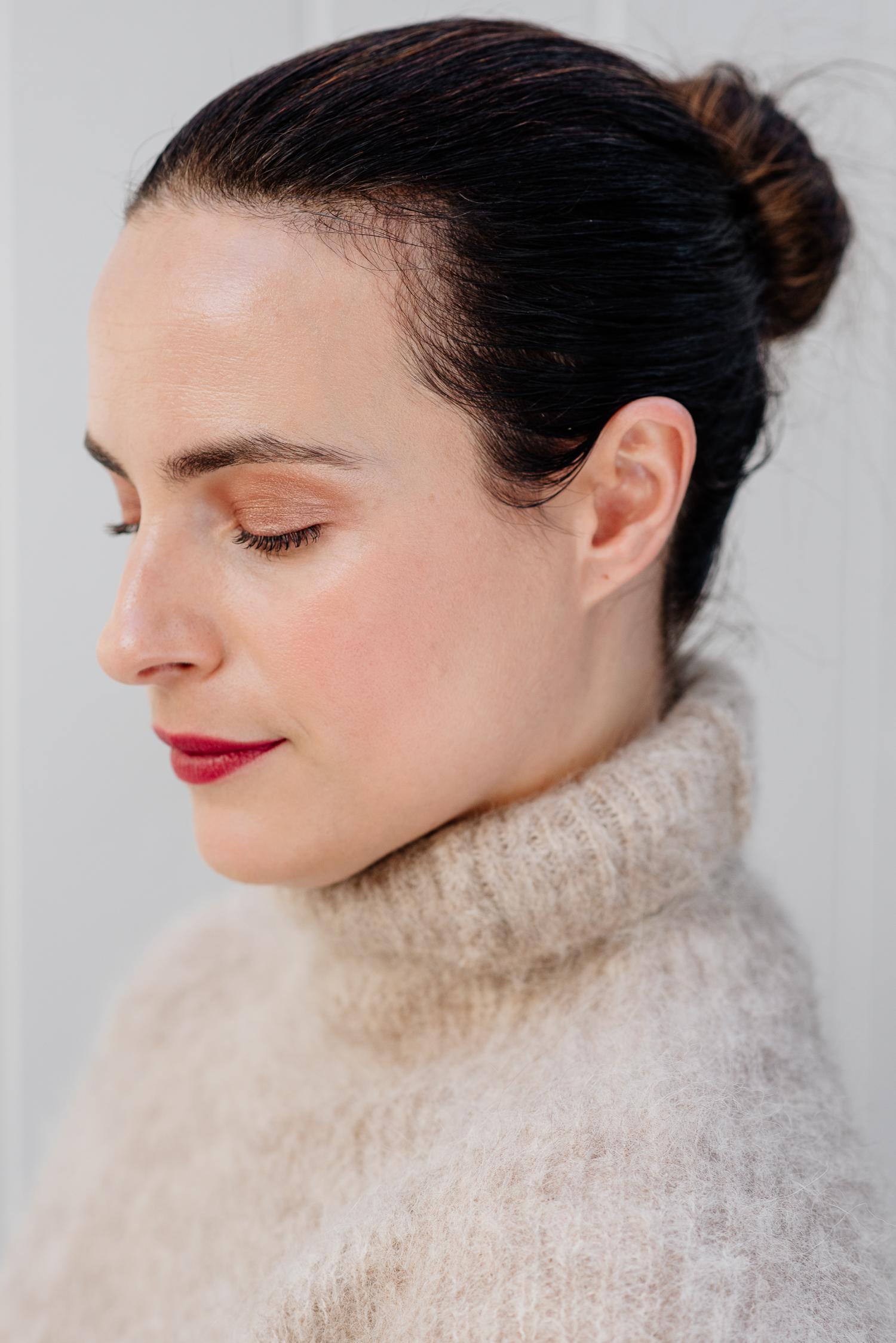organic make up berry lipstick copper eye shadow .jpg