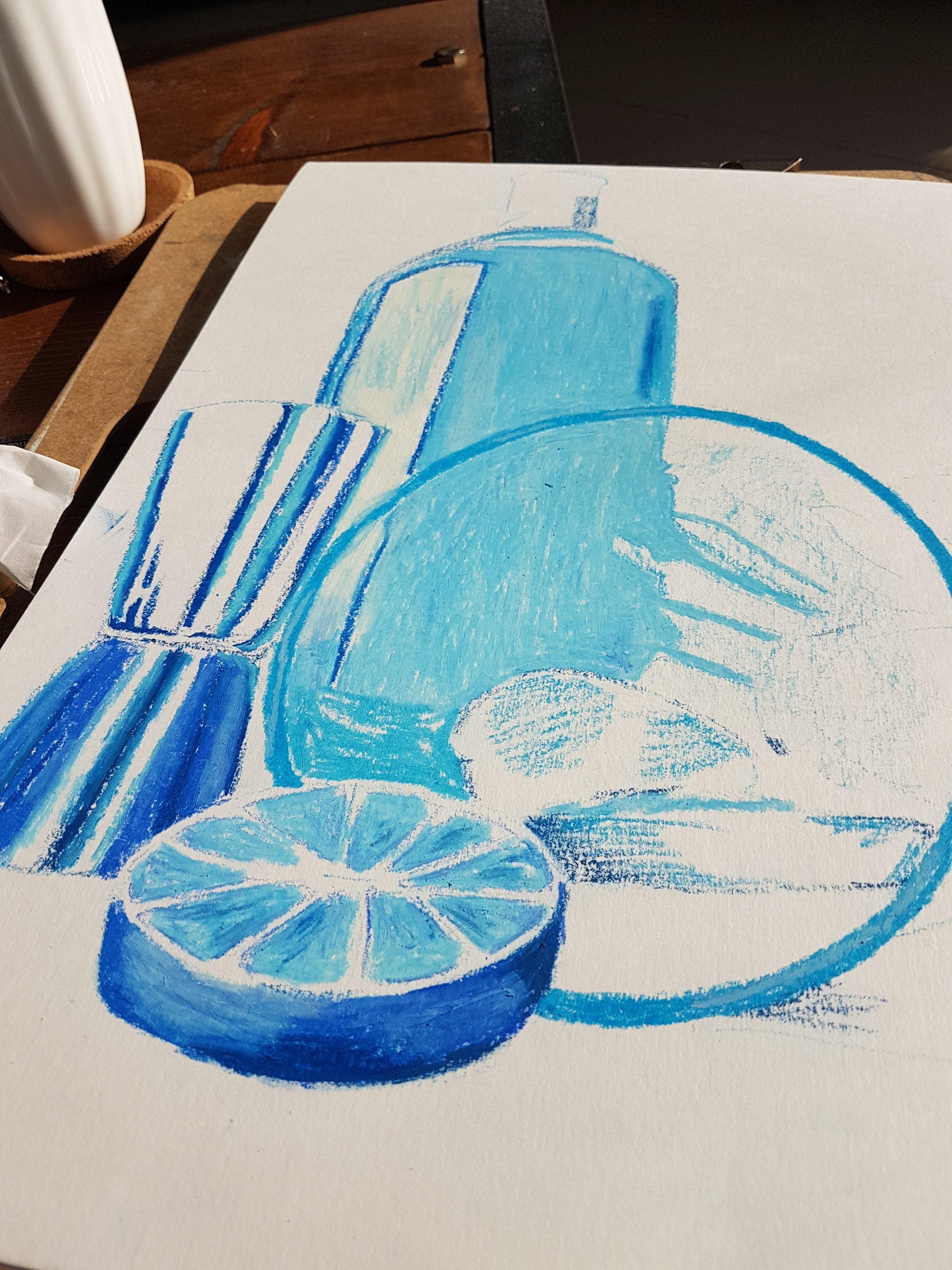 Gin bottle art