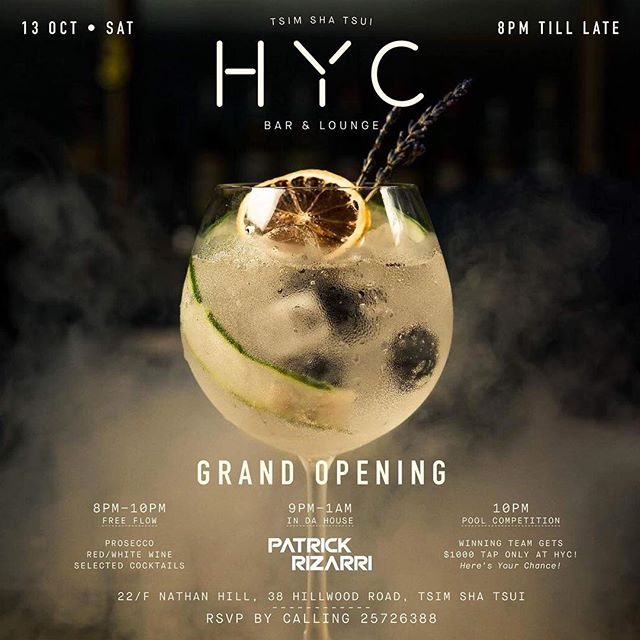 🍷 HYC grand opening this Sat!!🎉 Join the party with us!! RVSP by calling +862 2572 6388 or DM See ya all there🎈 - #hycbarandlounge #grandopening #tst #seeyouallhere #weekendvibes #shisha #hookah #hookaholics #terracebar #hookahlounge #hongkong #causewaybay #wanchai #homekong #socialsmoke #starbuzz #famuri #alfakher #shishabucks #kaloud #bestshisha #bobabear #bobabearhk