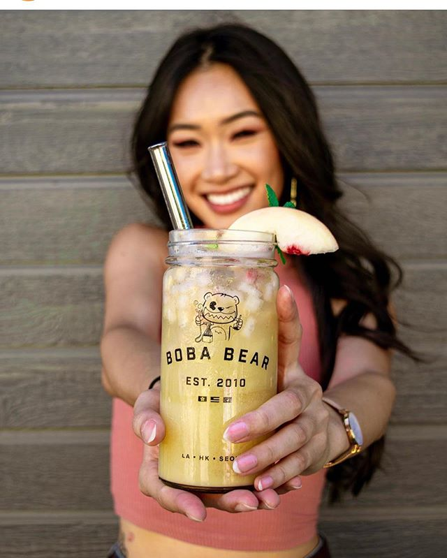 🎶Issa Hot PEACH Summer, so you know she got it lit!🎵We are very excited to launch our latest collaborative effort. The beautiful & lovely, @elizabethtran626 is teaming up with #Bearology on a personalized drink, fitted based off her personality and preferences. Introducing the Hot Peach Summer— a fizzy yogurt green tea, accented with ripe white peaches.🍑 ✺⁠ Reppin' loud & proud for the 626! 📣 Find this limited-time drink exclusively at Boba Bear Rowland Heights and Bearology Arcadia from Aug 12—Sept 12. 🥰 ✺⁠ Elizabeth Tran will be taking us throughout her day with an IG takeover! Get excited! 👀 ✺⁠ 📸: @mreativecinds