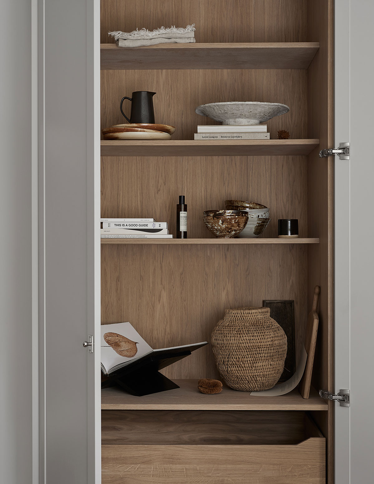 Kitchen cabinets in solid oak, inspiration
