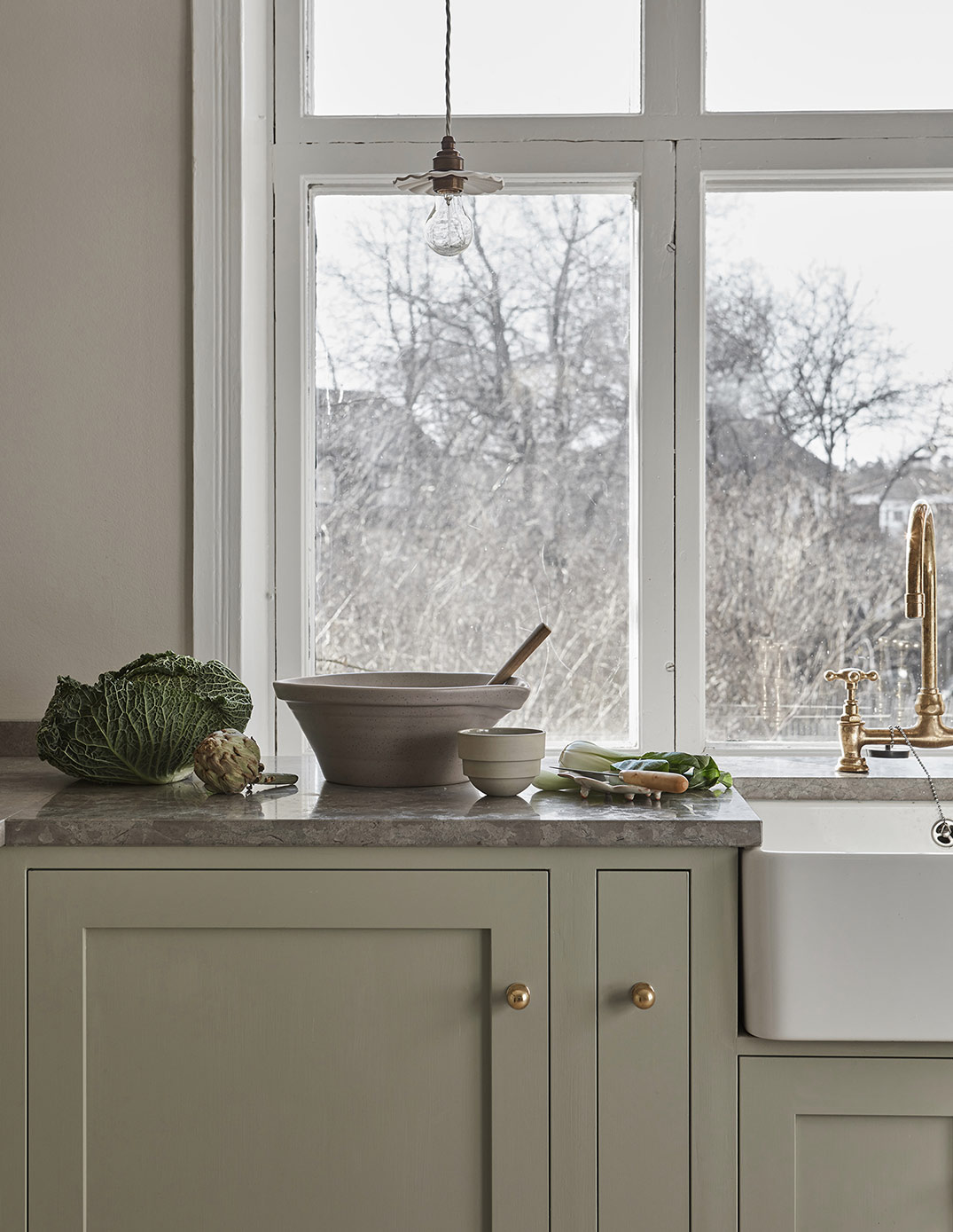 The most beautiful shaker kitchen in green