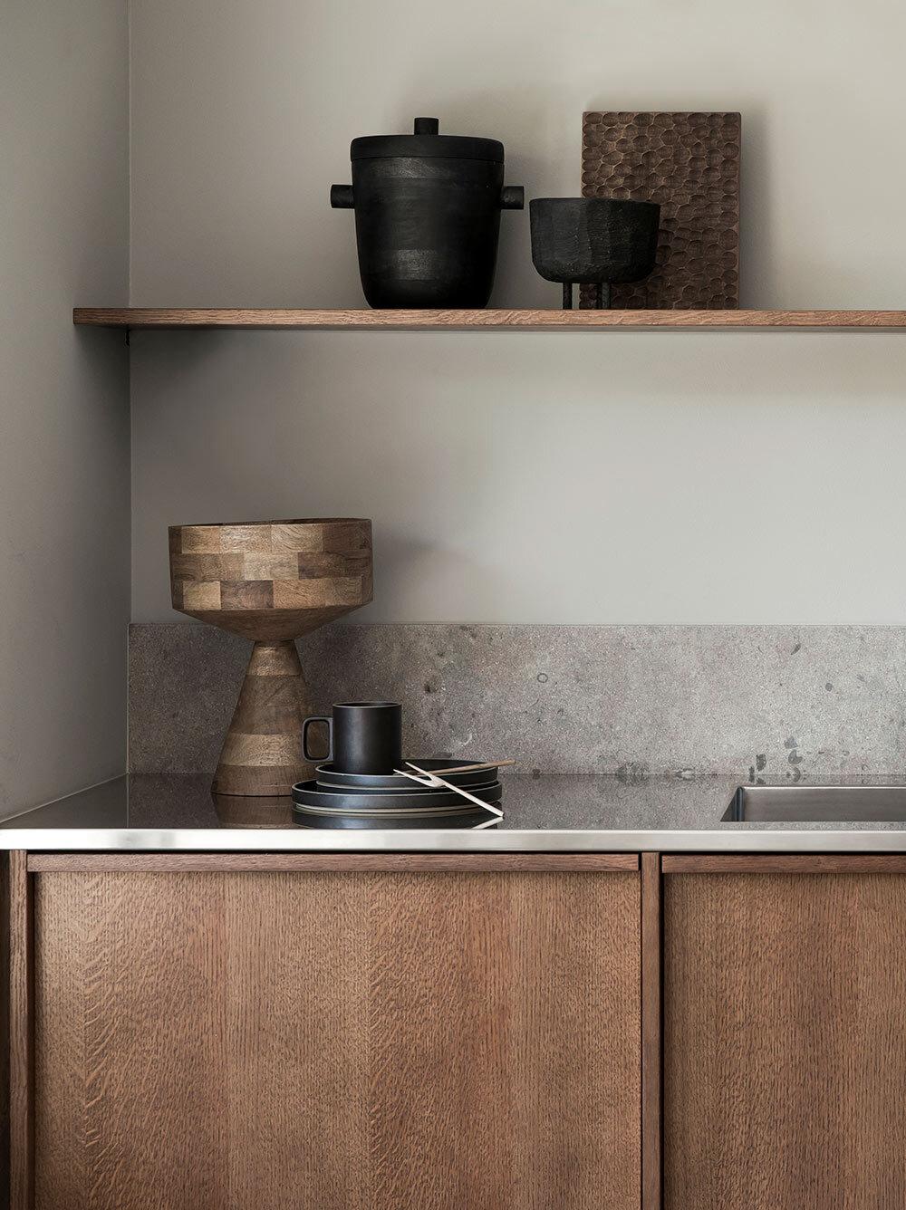 Hoburg marble, countertop in stainless steel