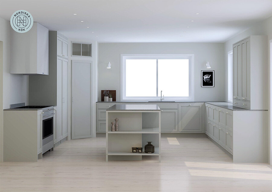 3. Design and price estimate - You will now get a drawing of your new kitchen together with suggestions for color, countertop and details. It gives you a more detailed overview of both the cost estimation and the creative solutions so that you can more easily make the right decisions.