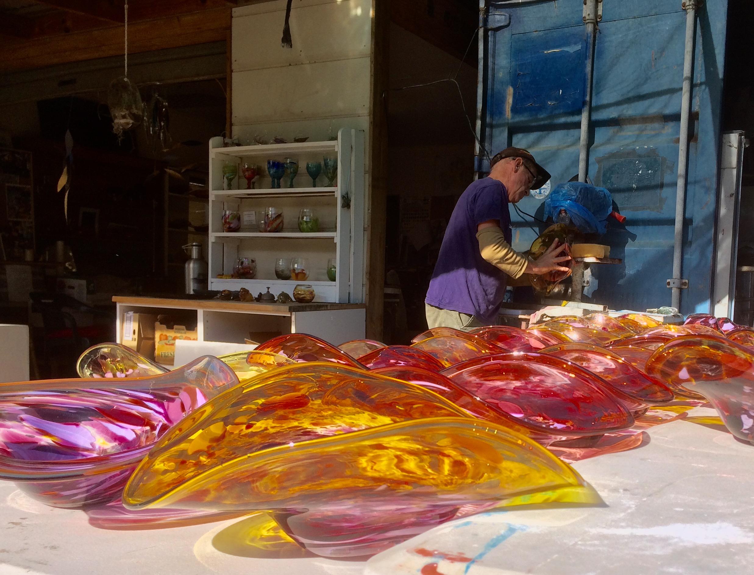 Gerry-Reilly-platters-blown-glass-300mml-x-200mmw-x-100mmh.jpg
