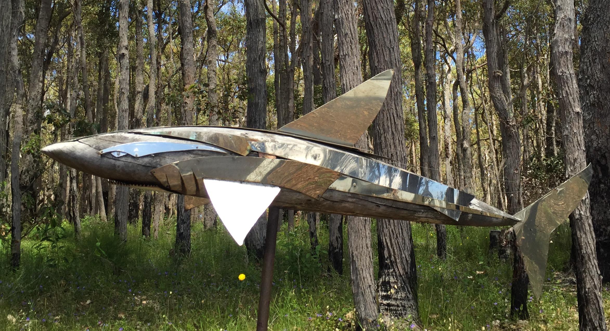 N.Lullfitz-shark-wood-and-stainless-steel-1mx1.2mx1.4m.jpg