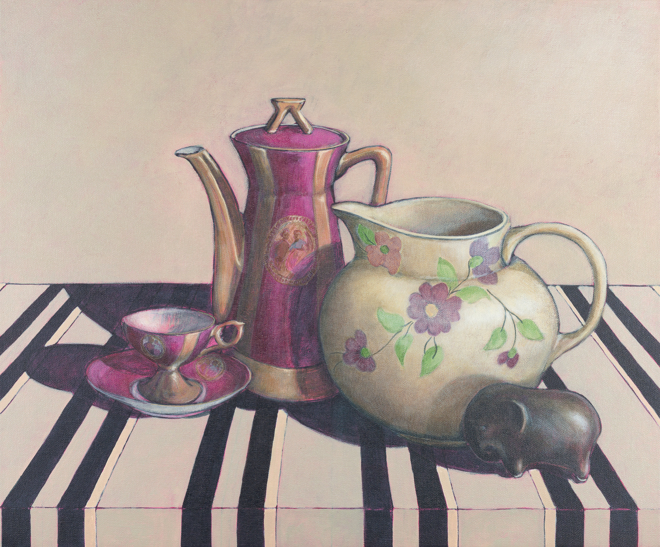 Sue Eva_Tea with Betty_2018_Acrylic on Canvas_50cm x 60cm.jpg