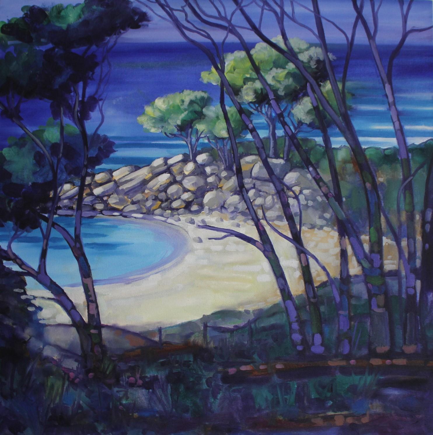 Wes Nash-Shelly Beach 2018 Oil on canvas 600x600.JPG