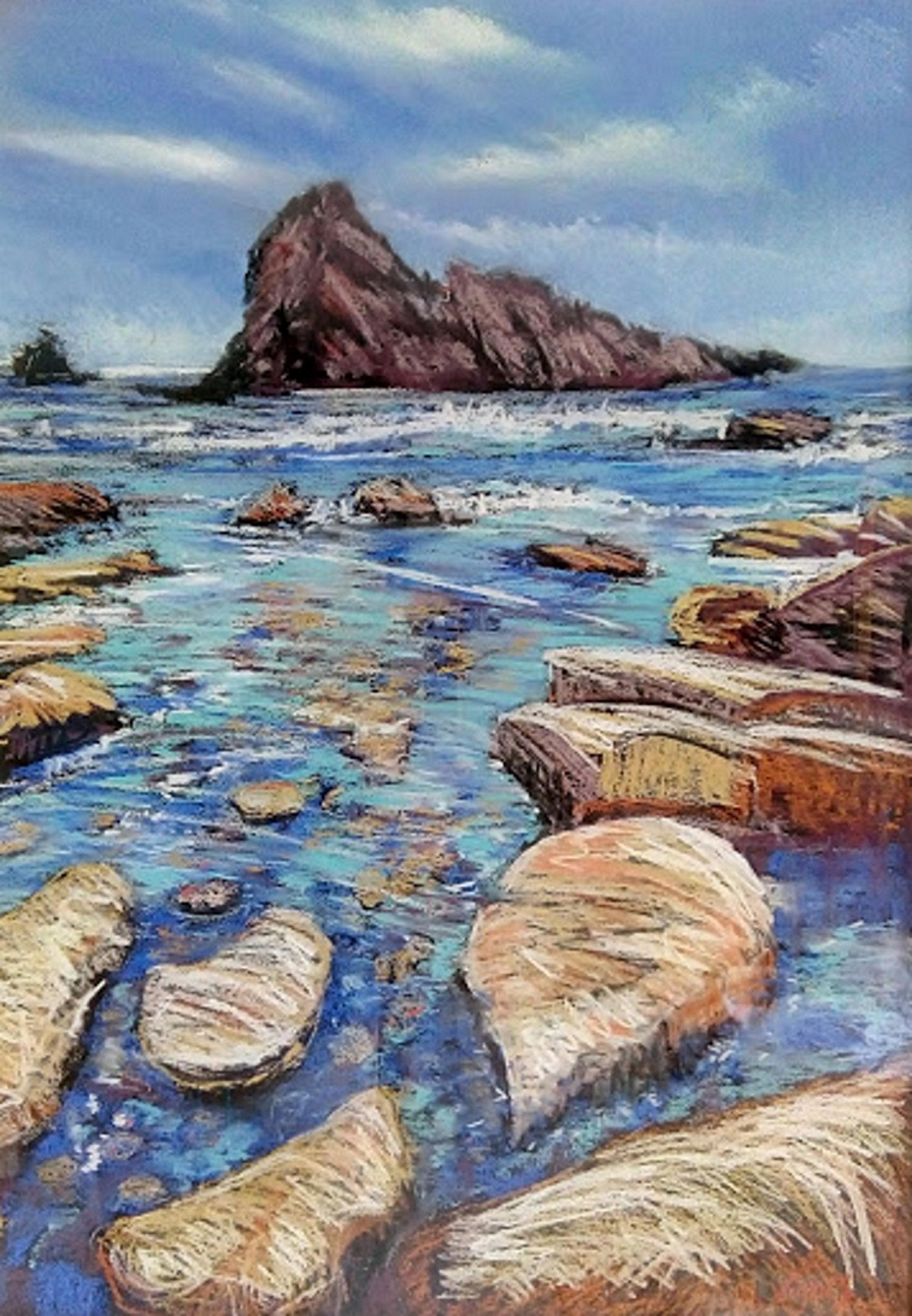 Steve Vigors_Sugar Loaf Rock_2014_Pastel_70x90cm.jpg