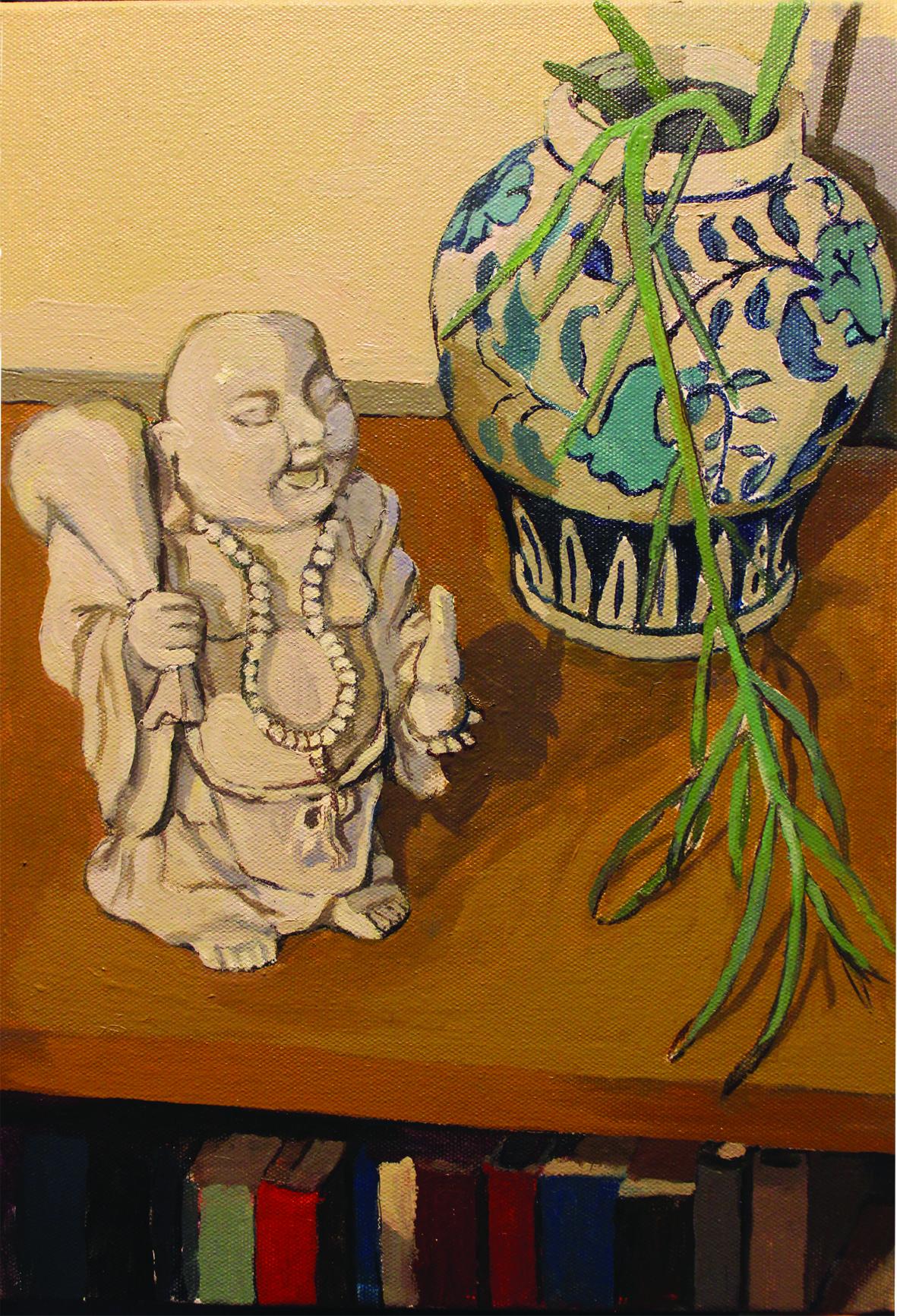 Sam James_Lucky Buddha_2018_Oil on Canvas_25.5cm x 35.5cm.jpg