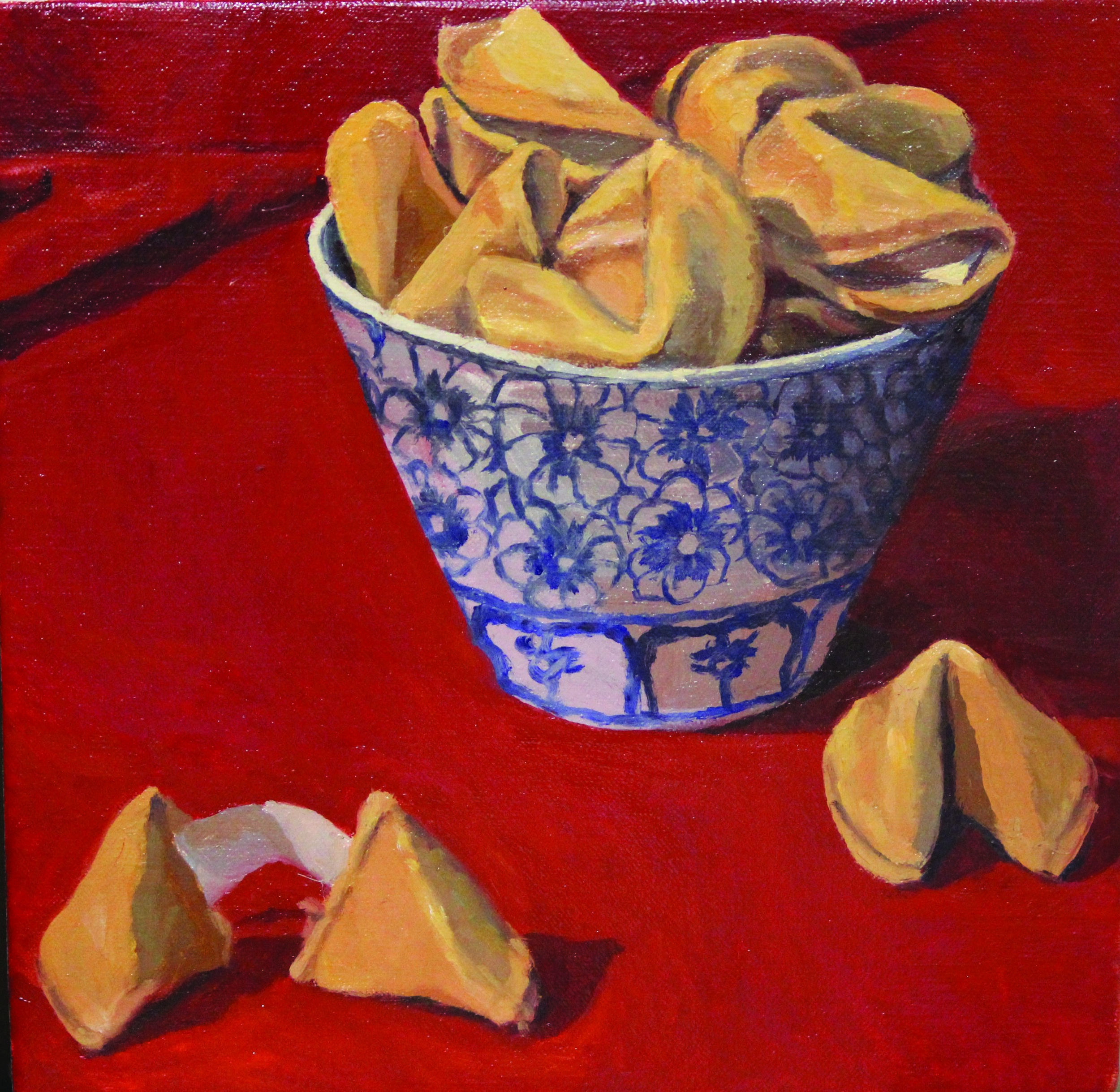 Sam James_ Fortune Cookies_ 2018_Oil on Canvas_27.5cm x 25.5cm .jpg
