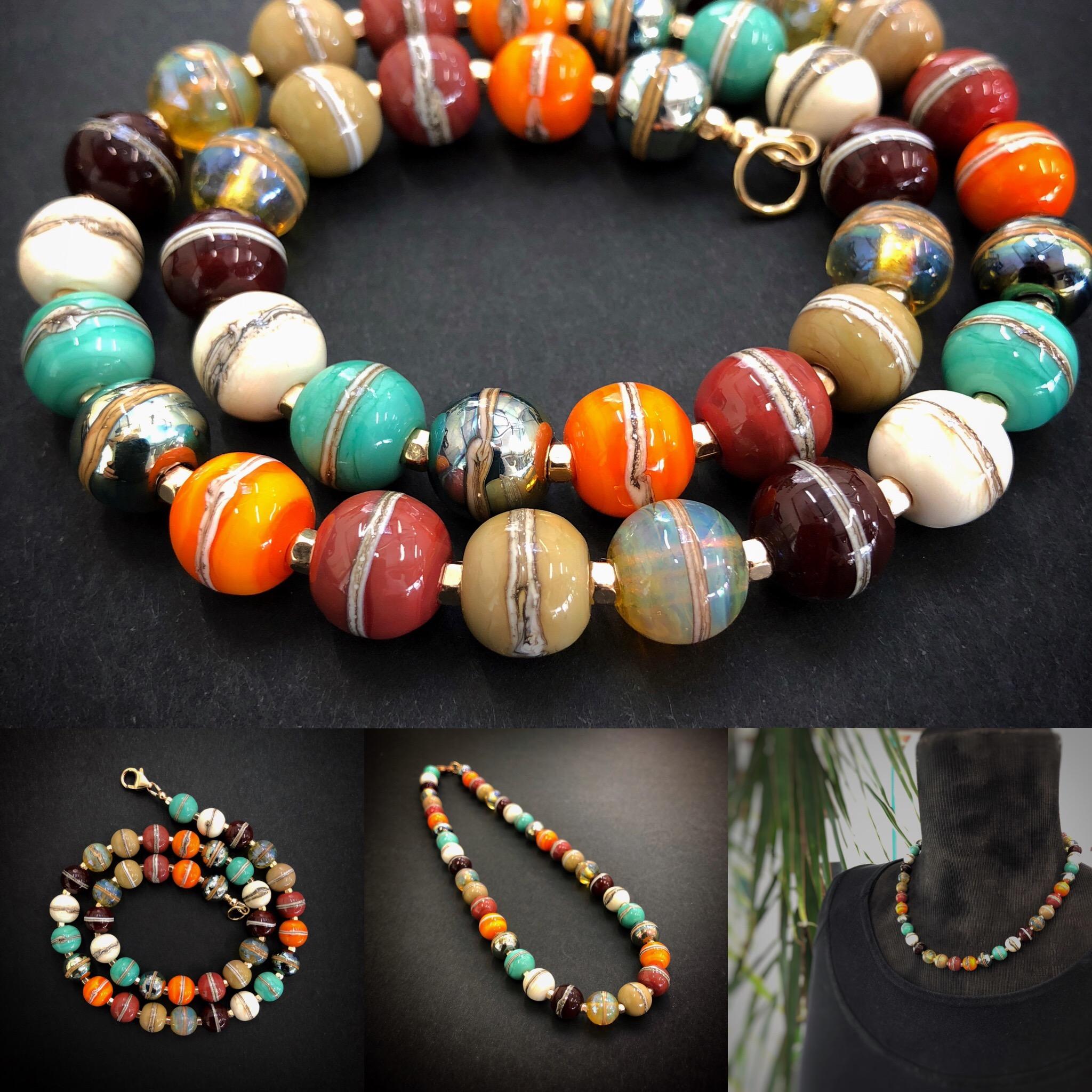 Lampwork bead necklace - Nalda Hoskins.jpg
