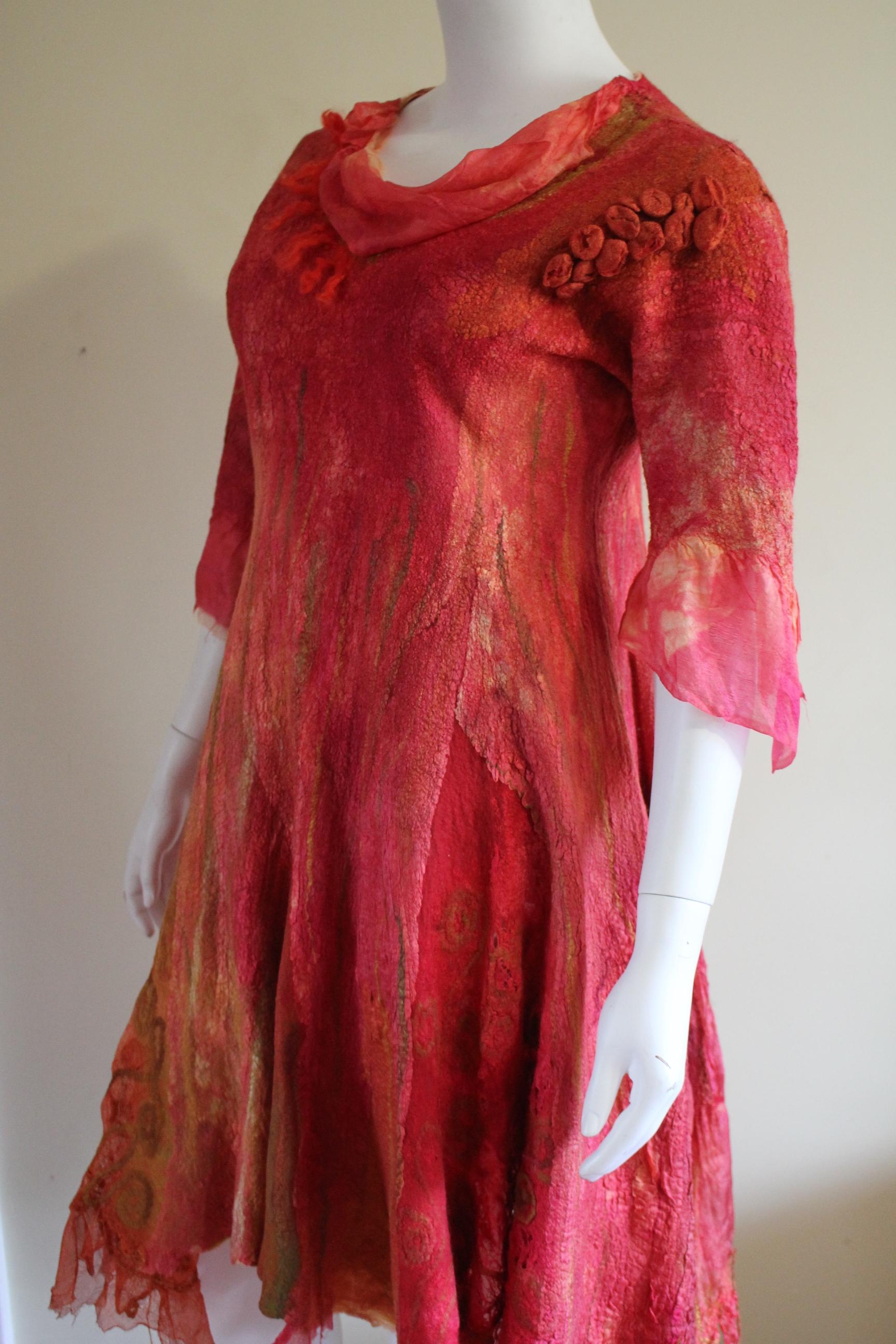 Lee Nash- Expression in Silk 2018 felted silk merino dress, size 18.JPG