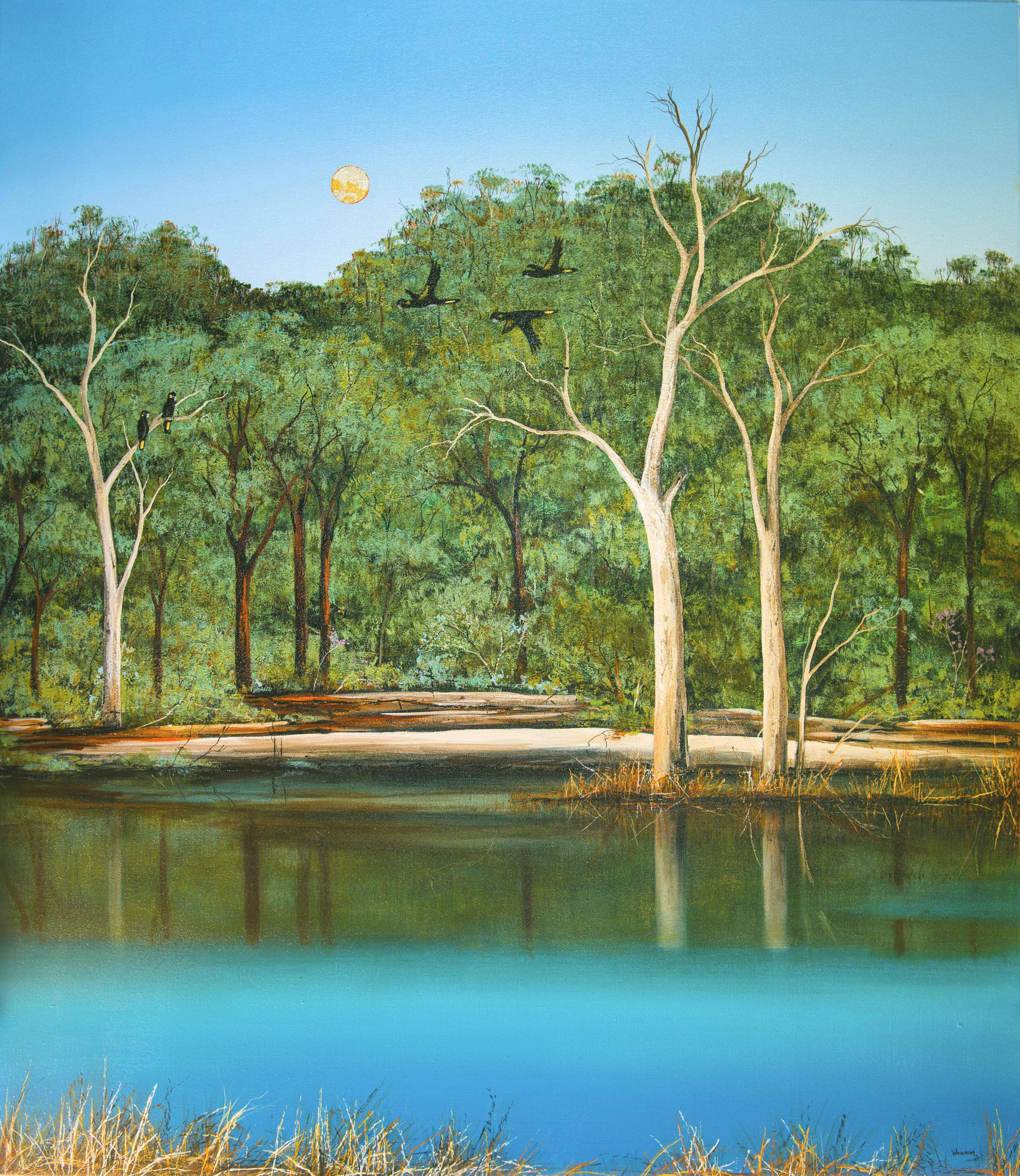 Ingrid Windram_Flright along the River_Acrylic_Canvas120cmW x 115cm H_2018.jpg