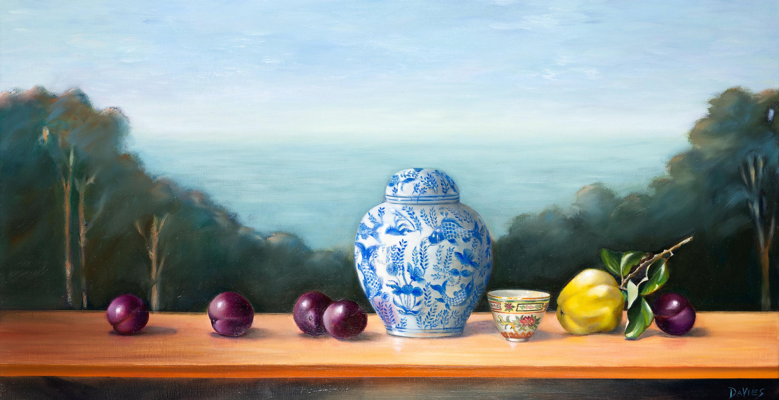 Dorothy Davies,Plum Bay, 2018, Oil on canvas,500x900 .jpg