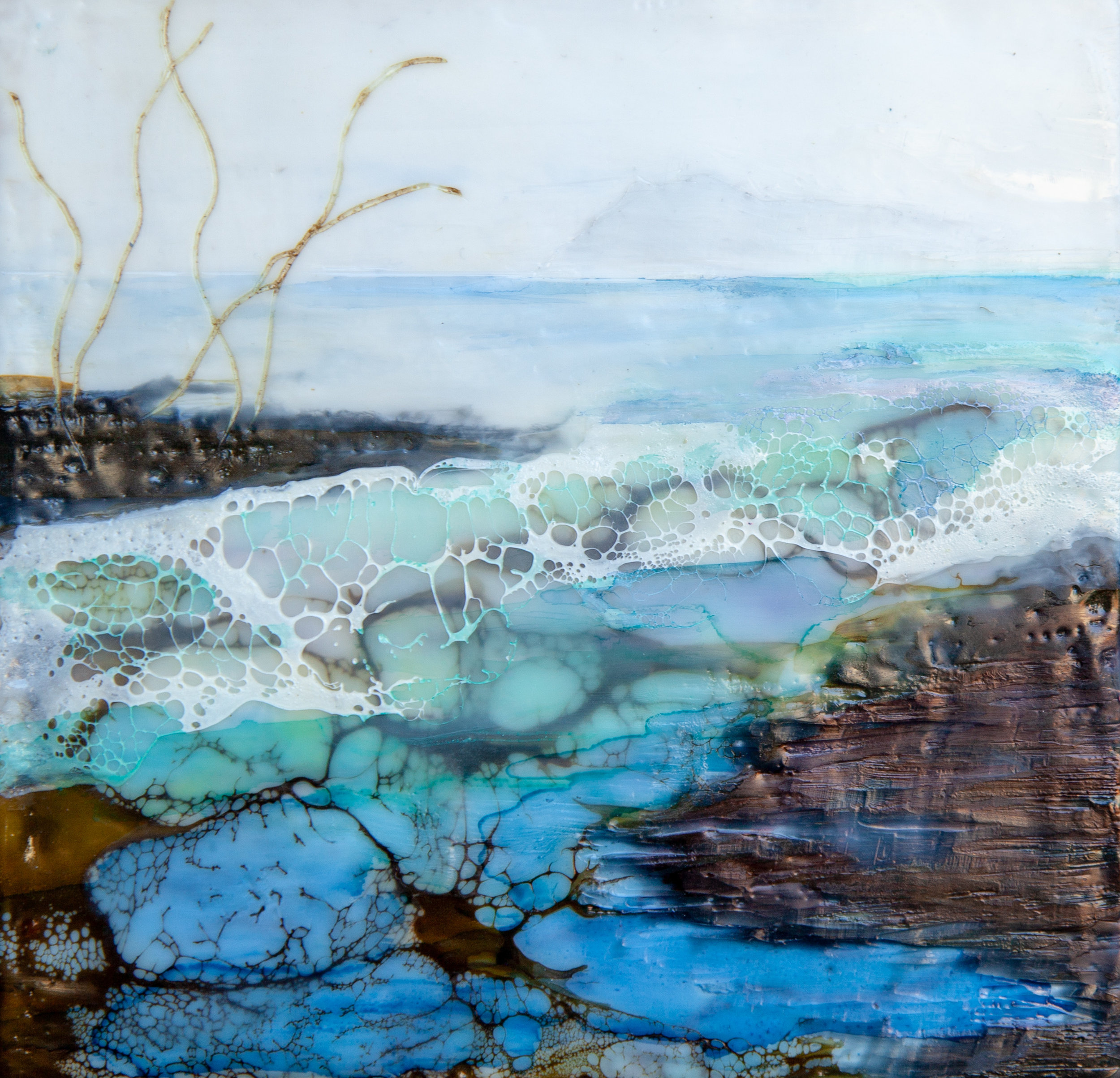 Colin Pratt_Castle Rock_2018_Encaustic & shellac_20x20cm.jpg