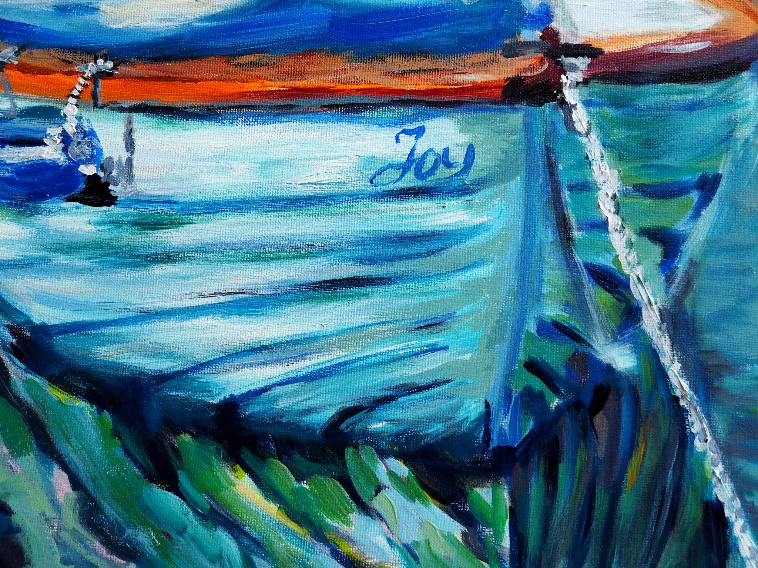 Carmen Griffen - boat of joy - 2018 - acrylic on canvas - 30x30cm.jpg