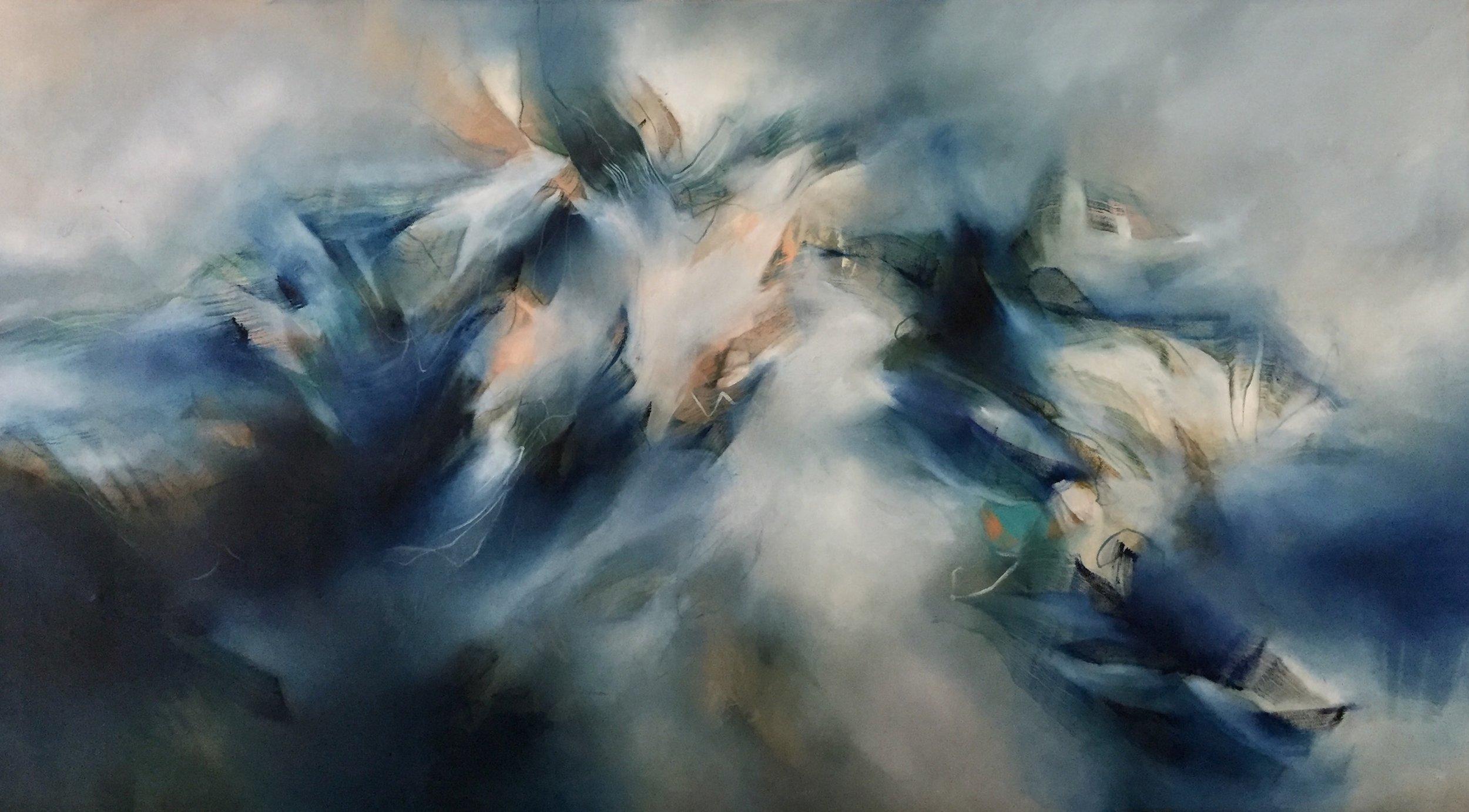 Alice Linford Forte, Sea Samurais, 2017,oil on canvas, 90x160cm.jpg