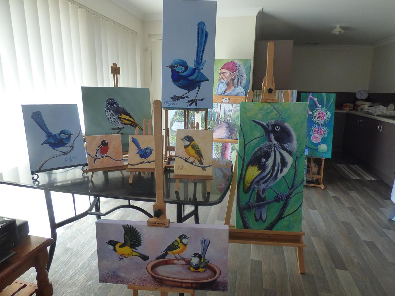 Olivia Lancaster_Margaret River Birds_2018_Acrylic on Canvas.JPG